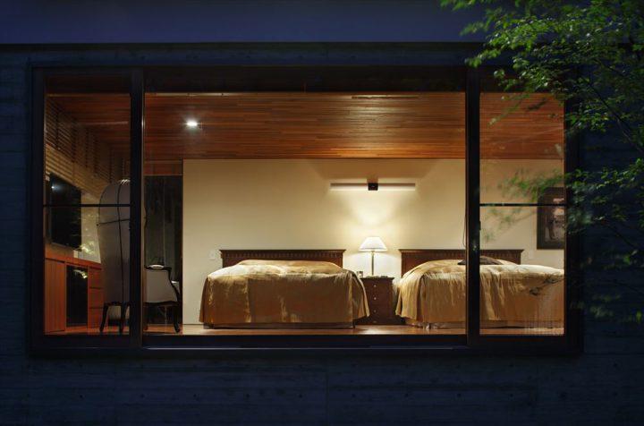 大山の大自然に囲まれたセカンドハウスのベッドルーム