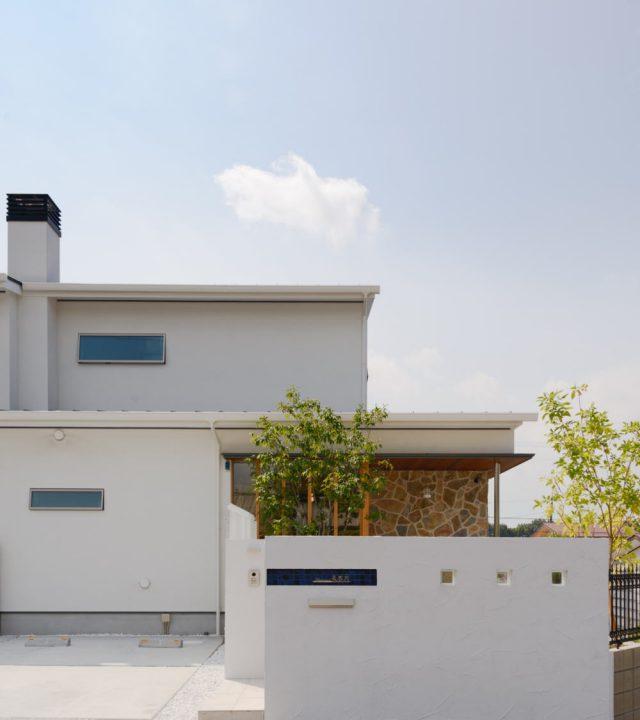 倉敷市に完成したピアノ教室兼住宅の外観写真