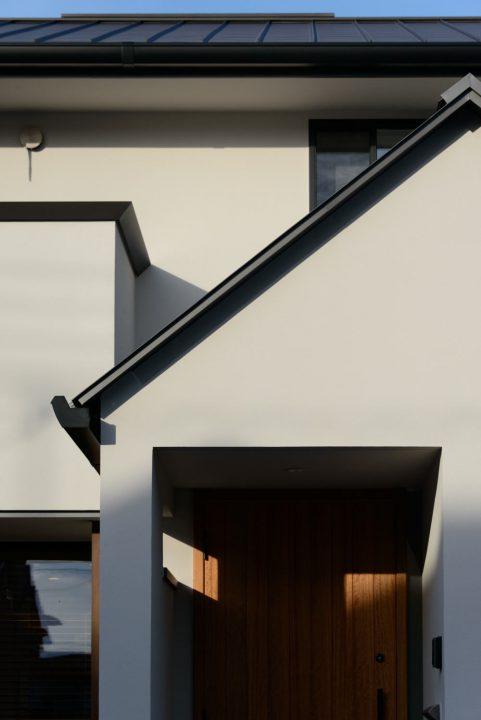 倉敷市の注文住宅、二連奏の家の完成写真外観
