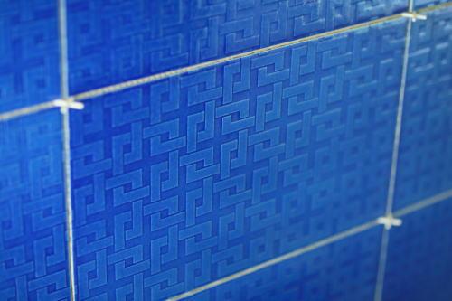 唐長特注の青いタイル