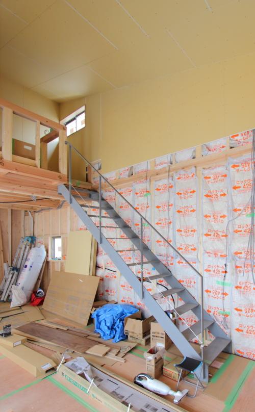 リビング階段は鉄骨階段