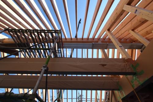 垂木あらわし天井の家