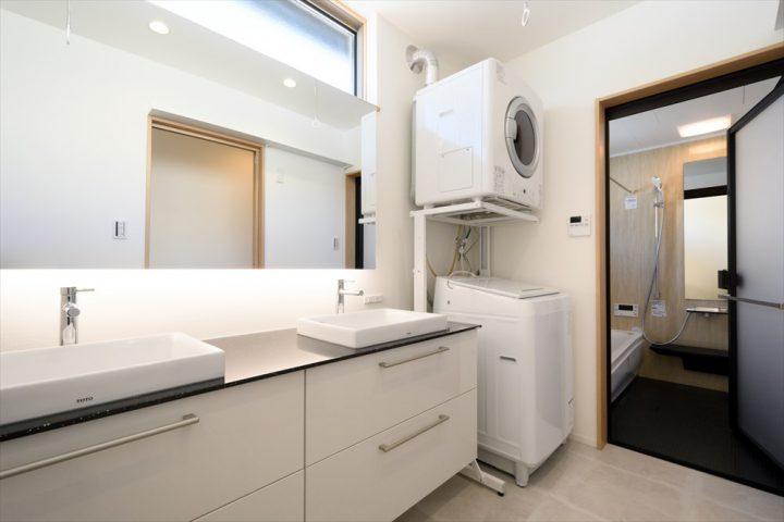 ダブルボウルの洗面室に家事時短アイテムリンナイ幹太くんを導入しました