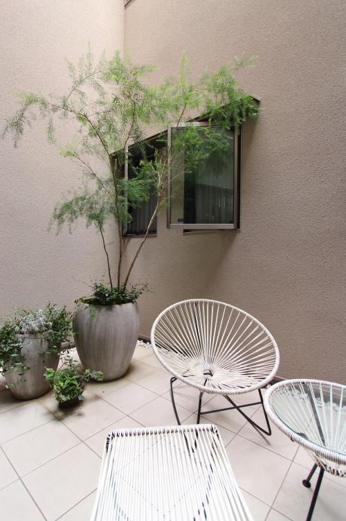 岡山市北区に完成した注文住宅、上品な中庭のある家