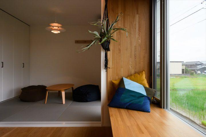 岡山市中区に完成した注文住宅、2Fのフリースペース横にある落ち着く和室