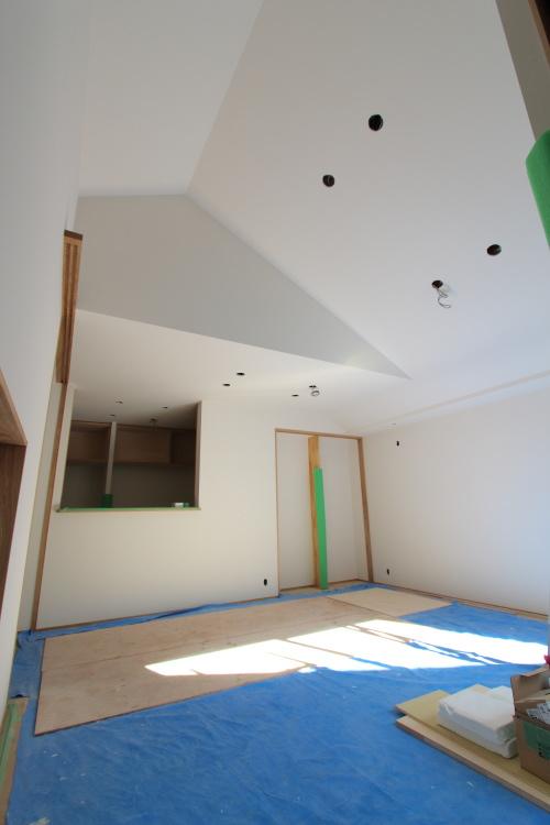 天井が高いリビング