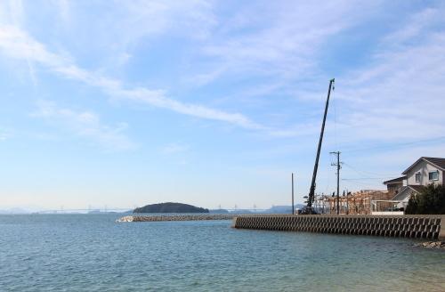 瀬戸内海まで8メートルの平屋