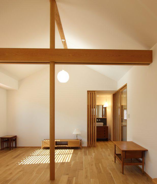 岡山市北区に完成した注文住宅、北欧インテリアの落ち着くLDK