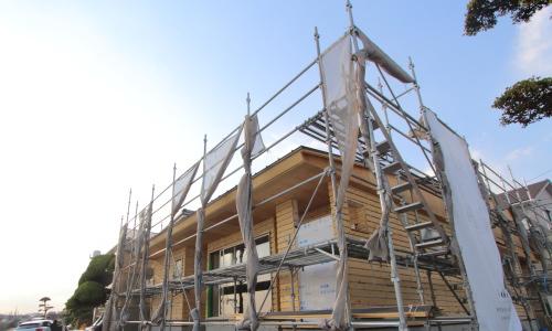 倉敷市に建築中の低い重心がカッコイイ平屋