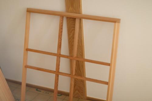 天窓にはめる木製の格子
