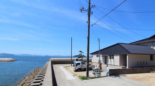 倉敷市に建築中の海が見える平屋、完成までもう少し